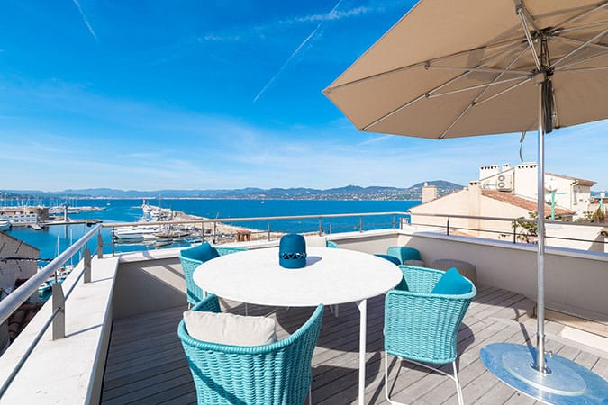 Location appartement de luxe Le Portalet à Saint-Tropez